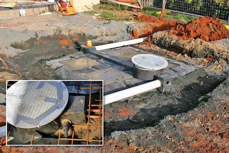LU 3000 Lattice™ Underground Tank Installation