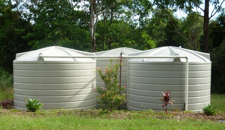 22,700 Litre Rainwater Tank Cluster (used for irrigation)