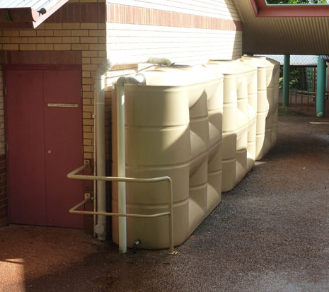 3 X 5,000 Litre Slimlines at a School