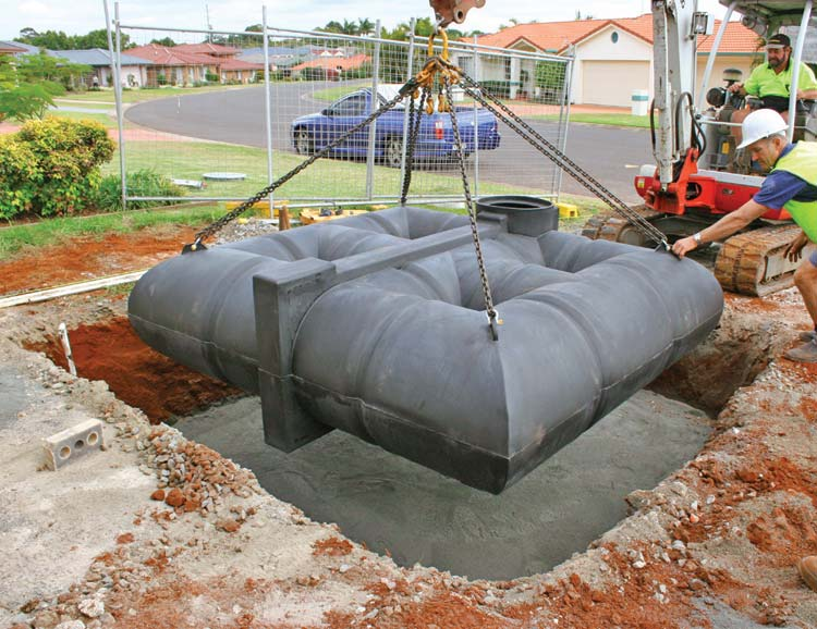 LU 3,000 Litre Lattice ™ Tank (under driveway)
