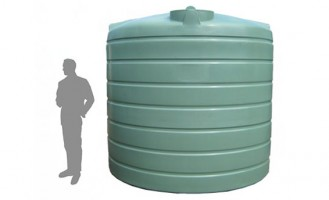 10,000 Litre / 2,220 Gallon Round Poly Water Tank