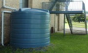 10000 litre rainwater tank near house