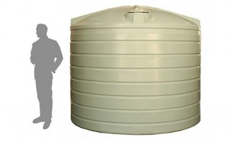 13,500 Litre / 3,000 Gallon Round Poly Water Storage Tank