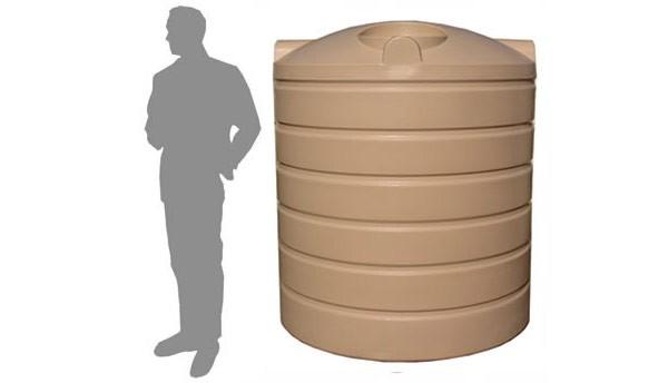 3,000 Litre / 660 Gallon Round Poly Water Storage Tank
