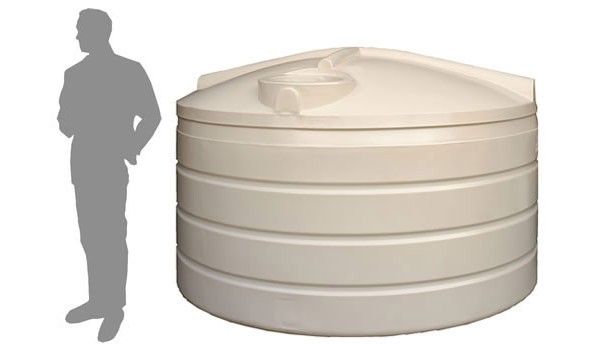4,100 Litre (4,000 Litre) / 900 Gallon Round Poly Water Storage Tank