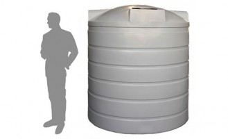 4,500 Litre / 1,000 Gallon Round Poly Water Storage Tank