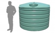 5,000 Litre / 1100 Gallon Round Poly Water Tank