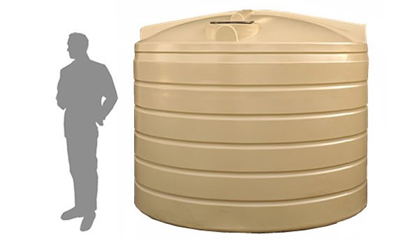 9,000 Litre / 2,000 Gallon Round Poly Water Storage Tank